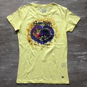 ⭐️NWOT M ECKO GOLD SHIMMER GRAPHIC TEE *SALE*